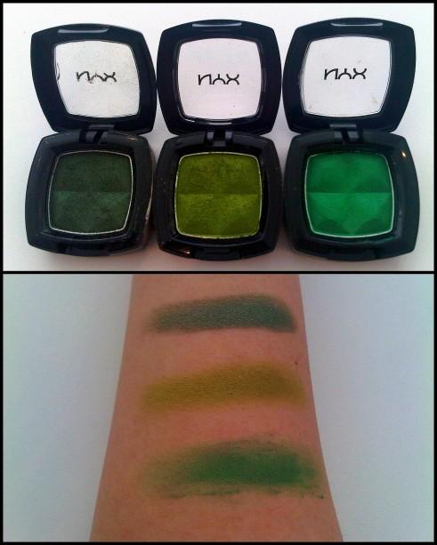 NYX eyeshadow green