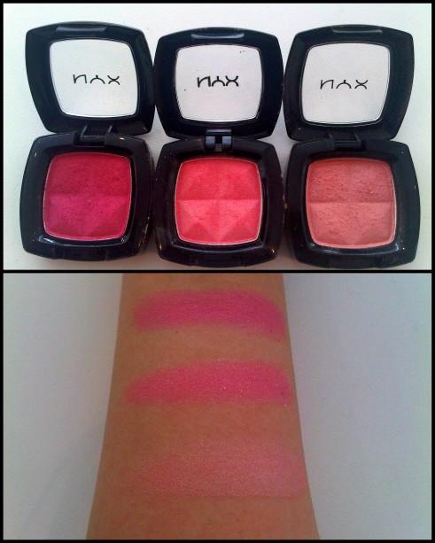 NYX eyeshadow pink